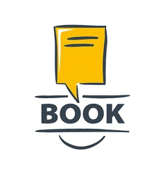 logo book in the form of a bubble vector image