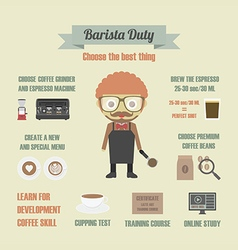 112barista duty vector
