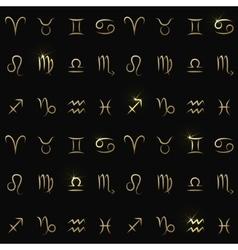 Zodiac signs seamless pattern vector