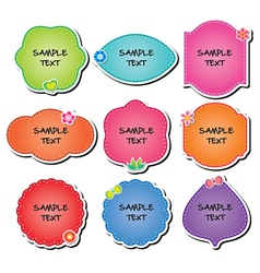 collection labels vector image