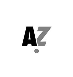 az a z black white grey alphabet letter logo icon vector image vector image