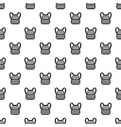 Bulletproof vest pattern simple style vector