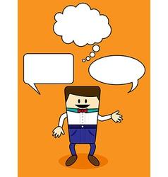 Cartoon with speech bubble vector
