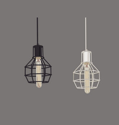 collection of vintage symbols light bulbs and vector image vector image