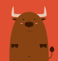 cute fat big Spain bull vector image vector image
