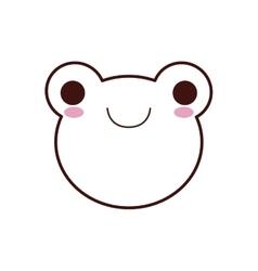 Cute frog kawaii style vector