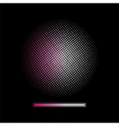 gradient halftone background vector image vector image