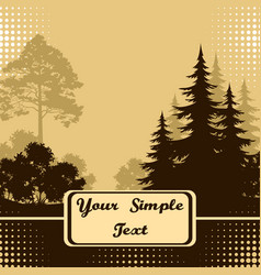 Landscape trees silhouettes vector