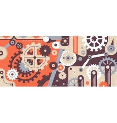 Mechanism flat background vector image