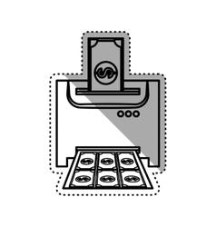 Money printing machine vector