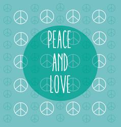 Peace and love cartoon vector