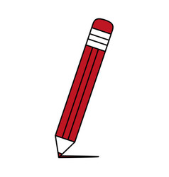 pencil with eraser icon image vector image
