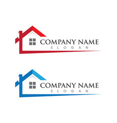Real estate property and construction logo vector