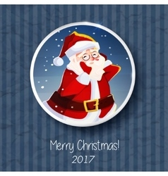 Santa claus portrait christmas card poster banner vector