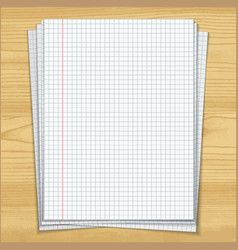 Sells notebook papers on wood table background vector