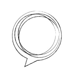 speech bubble message icon vector image vector image