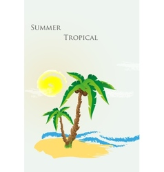 the palm tree vector image
