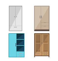 wardrobe design isolate collection set vector image vector image