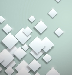 White Squares on Blank Background vector image