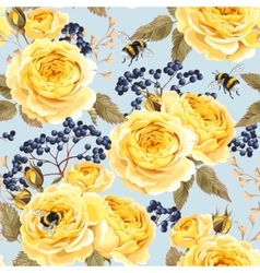 Seamless vintage flowers vector image