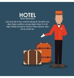 bellboy baggage hotel service icon vector image