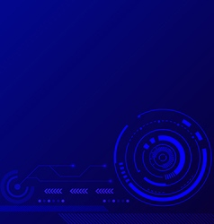 Abstract blue futuristic technology background vector