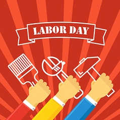 The celebration of the labor day greeting card vector