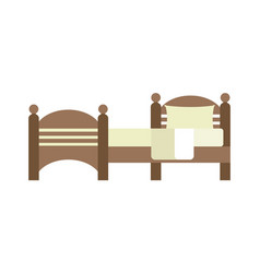 Exclusive sleeping furniture design bedroom vector