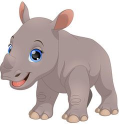 cute little rhino vector image