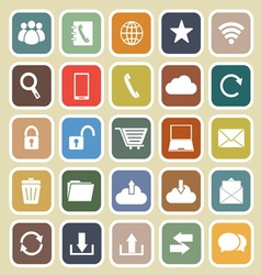 Communication flat icon on light background vector