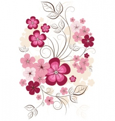 Spring isolated branch vector