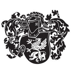 Heraldic silhouette no44 vector