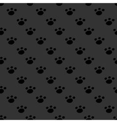 Animal footprint seamless dark pattern vector