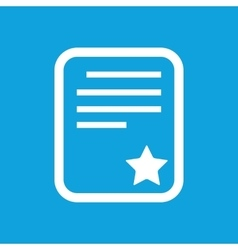 Quality document icon vector