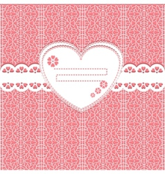 cute lace frame on lace background vector image