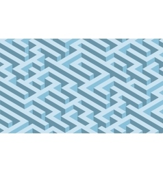 The maze blue labyrinth - endless vector