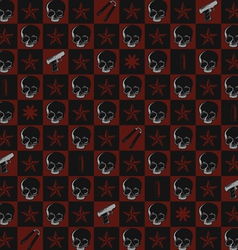 Seamless pattern of death and violence vector