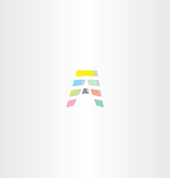 A letter symbol design icon colorful element vector