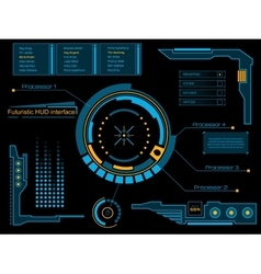 Graphic touch user interface hud vector