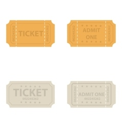 Vintage cinema tickets vector