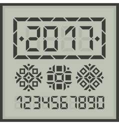 Happy 2017 new year digital card vector