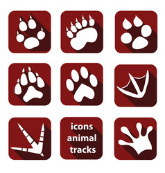 A set of tracks of wild animals vector