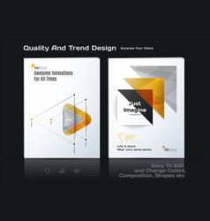 abstract annual report business template vector image vector image