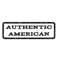 Authentic american watermark stamp vector