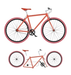 Bicycle parts poster quality vector