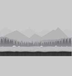 Cartoon forest game background landscape vector
