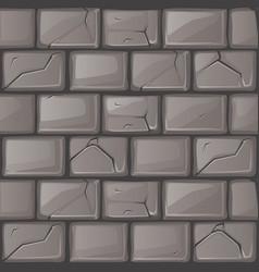 cartoon grey stone wall texture vector image vector image