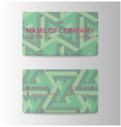 colorful visit card for business in individual vector image