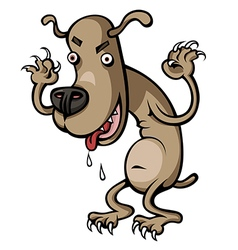 Crazy Dog vector image