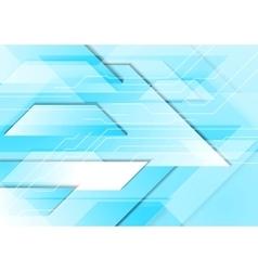 Cyan tech geometric background vector